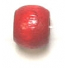 Wood Crowbeads 6/4.5mm Red